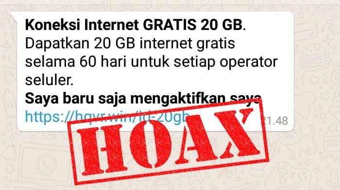 Hindari Penipuan Jangan Klik Tawaran Internet Gratis 20 Gb